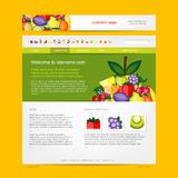 Website design template, fruits style Stock Photography