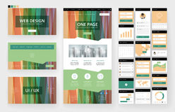 Website design template and interface elements Royalty Free Stock Photo