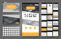 Website design template and interface elements Royalty Free Stock Image