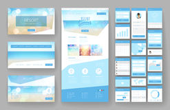 Website design template and interface elements Stock Images