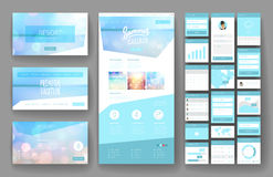 Website design template and interface elements Stock Image