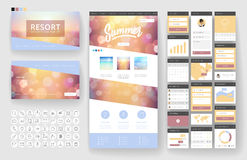 Website design template and interface elements Royalty Free Stock Photography