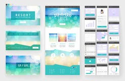 Website design template and interface elements Stock Photography