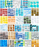 Website Design Template jumbo collection Stock Photos