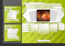 Website Design Template Menu Elements. With FAQ And Registration. Vector Illustration. Eps 10 Royalty Free Stock Images