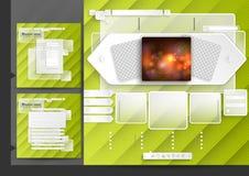 Website Design Template Menu Elements Royalty Free Stock Images