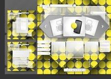 Website Design Template Menu Elements Royalty Free Stock Photos