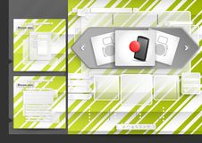 Website Design Template Menu Elements. With FAQ And Registration. Vector Illustration. Eps 10 Stock Photo