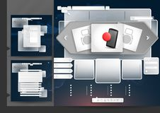 Website Design Template Menu Elements. With FAQ And Registration. Vector Illustration. Eps 10 Stock Images