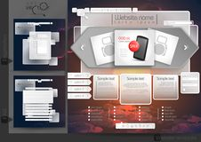 Website Design Template Menu Elements Royalty Free Stock Images