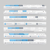 Website design template navigation elements with icons set Stock Photo