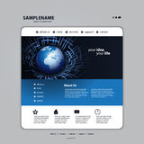 Website design template vector Royalty Free Stock Photography