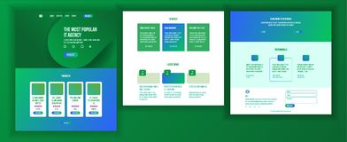 Website Design Template Vector. Business Background. Landing Web Page. Financial Statistics. Electronic Organisation. Main Web Page Design Vector. Website Royalty Free Stock Photos