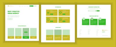 Website Design Template Vector. Business Interface. Landing Web Page. Professional Team. Monitoring And Optimization. Website Design Template Vector. Business vector illustration