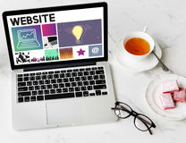 Website Design UI Software Media WWW Concept Royalty Free Stock Image
