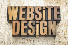Website design in wood type Stock Photos