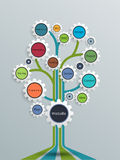 Website development-Growth tree concept with gear wheel Stock Photos