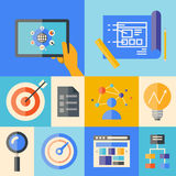 Website development illustration concept Stock Photo