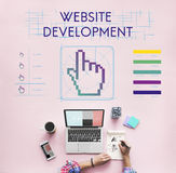 Website Development Links Seo Webinar Cyberspace Concept Royalty Free Stock Photo