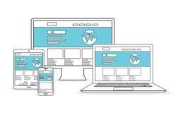 Website development and marketing vector Stock Photo