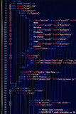 Website development - programming code on computer screen Royalty Free Stock Photo