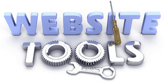 Website development web internet tools. Shiny effective powerful new tool set for business Internet website development stock illustration