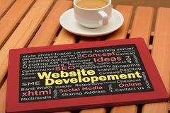 Website Development words collage on chalkboard Royalty Free Stock Images