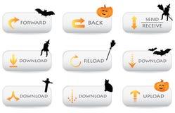 Website download buttons vector illustration