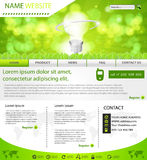 Website eco layout template Royalty Free Stock Images
