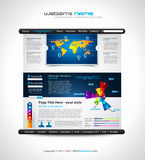 Website - Elegant Design for Business Royalty Free Stock Photos