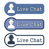 Website Element: Live Chat. On White Background vector illustration