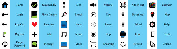 Website element set icon Royalty Free Stock Image