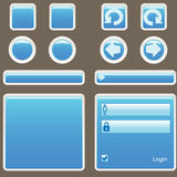Website Elements. Buttons vector illustration Stock Photo