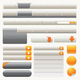 Website elements. Website navigation templates and buttons Stock Images