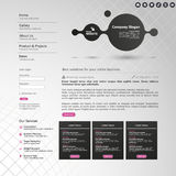 Website Elements/Template Design for Your Business Site Royalty Free Stock Images