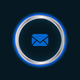 Website email button Royalty Free Stock Photo