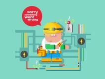 Website error page concept Stock Photo