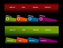 website för 2 redigerbar navigeringmallar Arkivfoto