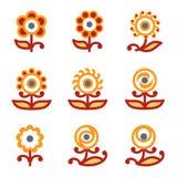 website för 32 färgsymboler Royaltyfri Bild