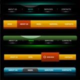 website för 4 navigeringmallar Arkivfoto