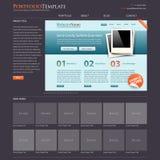 website för bonusportföljmall Royaltyfria Foton