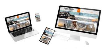 website för byrå för flygapparatlopp svars- Royaltyfri Bild