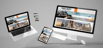 website för byrå för flygapparatlopp svars- Royaltyfria Foton