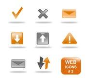 website för del för 3 symbol set Arkivbilder