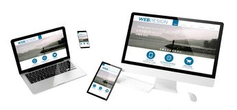 website för design för flygapparatrengöringsduk svars- Royaltyfria Bilder