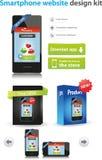 website för designsatssmartphone Arkivfoton