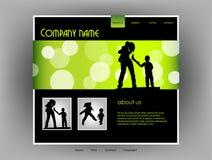 website för familjmallvektor Arkivfoton