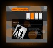 website för familjmallvektor Royaltyfri Fotografi