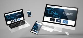 website för innovativ teknologi för flygapparater svars- Arkivfoton