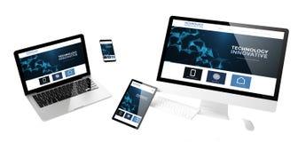 website för innovativ teknologi för flygapparater svars- Royaltyfria Bilder